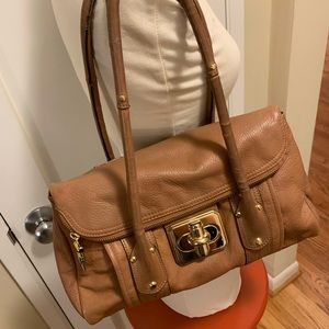 B. Makowski Gorgeous Leather Shoulder Bag